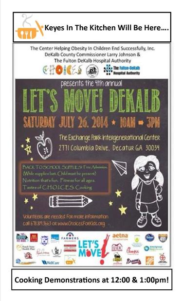 Come join me July 26th at Let's Move! DeKalb.